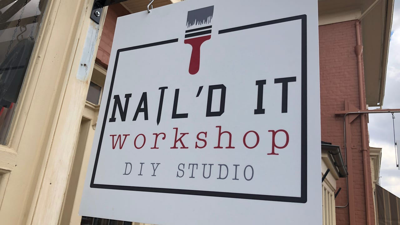 The do-it-yourself studio called Nail'd It Workshop offers a variety of projects people can come in and do entirely themselves.