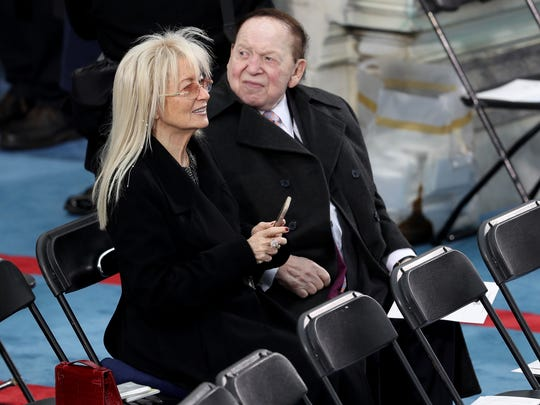 Sheldon Adelson sits on the West Front of the U.S.