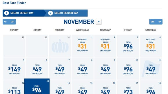 JetBlue's cheap-fare finder shows just how limited its best fares are for a one-day 'flash sale' announced on Oct. 11, 2017.