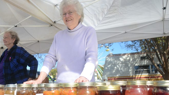 Vonice Wainwright of Pollock sells various foods she has canned at the Louisiana Pecan Festival in Colfax Friday, Nov. 7, 2014. Her most popular product is called chow-chow.-Melinda Martinez/mmartinez@thetowntalk.com, The Town Talk, Gannett