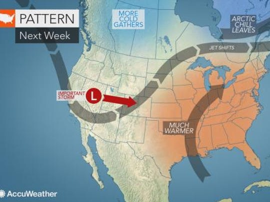 The second half of the week is expected to warm up