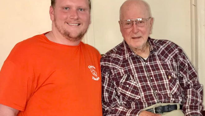 Jonathan Vickery (left) with his grandfather, the late Lloyd Vickery Jr. (right), a couple years ago. The two were birthday buddies as they shared a July 12 birthdate.
