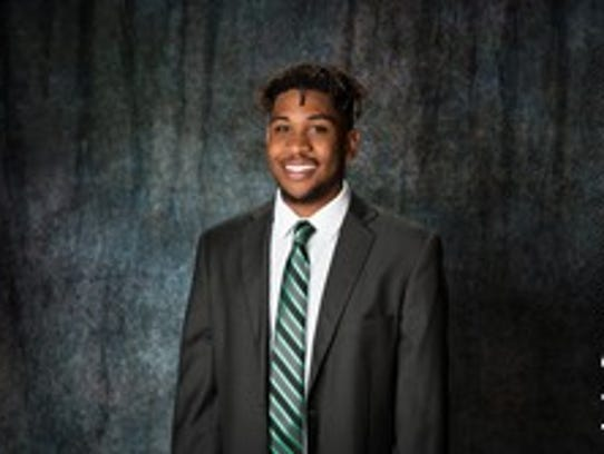 Devin Pullum, a freshman guard at Eastern New Mexico,