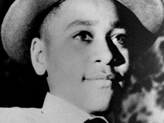 Emmett  Till, a  14-year-old Chicago boy, was kidnapped,