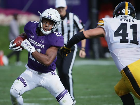 Northwestern's Justin Jackson is 155 yards behind MSU's Lorenzo White for seventh all-time on the Big Ten rushing list.