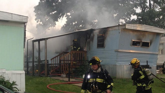 The Des Moines Fire Department responded to a report of a fire at a trailer park at 1424 E. Virginia Ave. shortly after 7 a.m. Tuesday.
