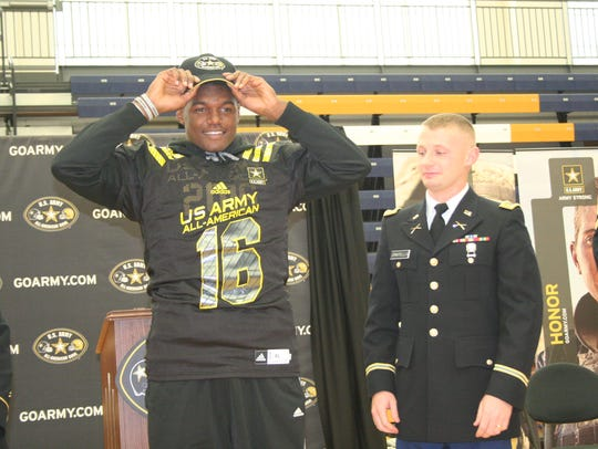 Battle Creek Central's Brandon Randle presented with