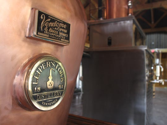 A 550-gallon, Scottish-style still is the centerpiece of the new Leiper's Fork Distillery, which will open its doors in June.