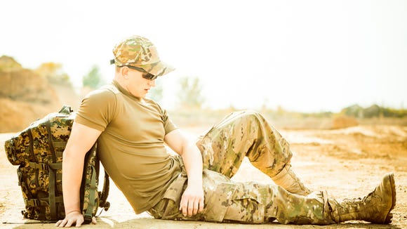resting soldier