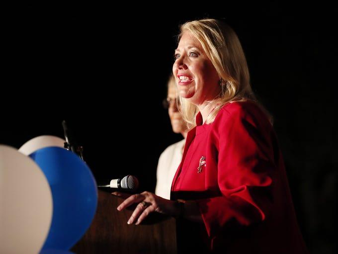 Republican congressional candidate Debbie Lesko speaks