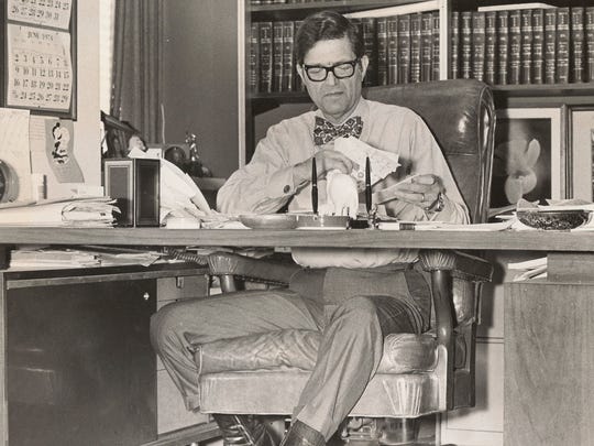 And the judge wore boots: Brand-new U.S. District Judge Tom Stagg in his office, early 1974.