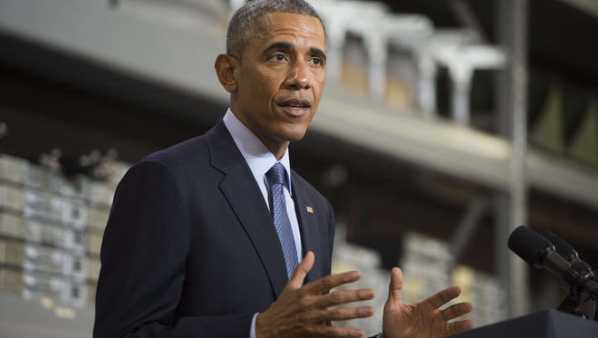 """President Obama says Internet access is  """"about helping local businesses grow and prosper,"""" during a visit to Cedar Falls, Iowa."""