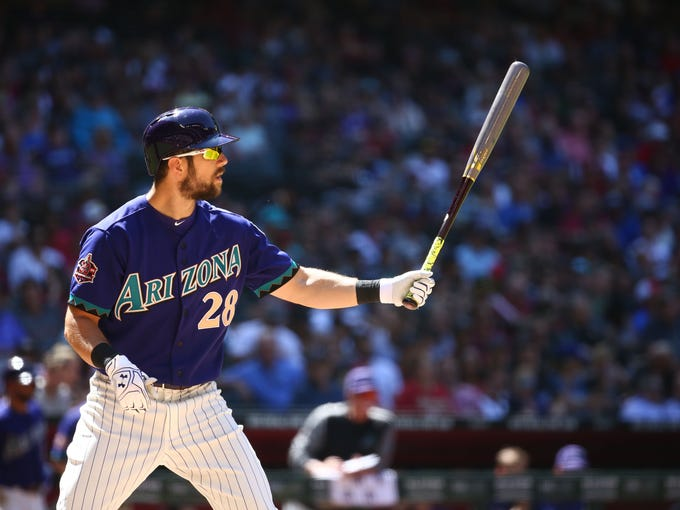 Arizona Diamondbacks Steven Souza Jr. bats against
