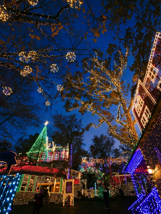 an old time christmas grows by 15 million lights
