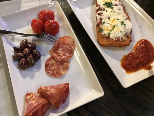 Antipasti and eggplant parmesan are on Sangiovese's