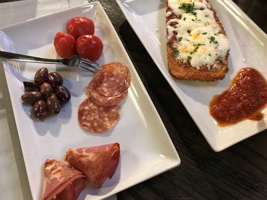 Antipasti and eggplant parmesan are on Sangiovese's