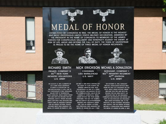 A Medal of Honor memorial recognizing 3 town residents on May 21, 2018,  The marker will be formally unveiled on Memorial Day.