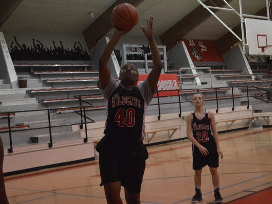 The lone senior for the Lady Cats, Bryauna Green (40) is averaging 16 points and 15 rebounds per game.