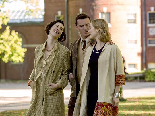 "Rebecca Hall, Luke Evans and Bella Heathcote in ""Professor Marston and the Wonder Women."""