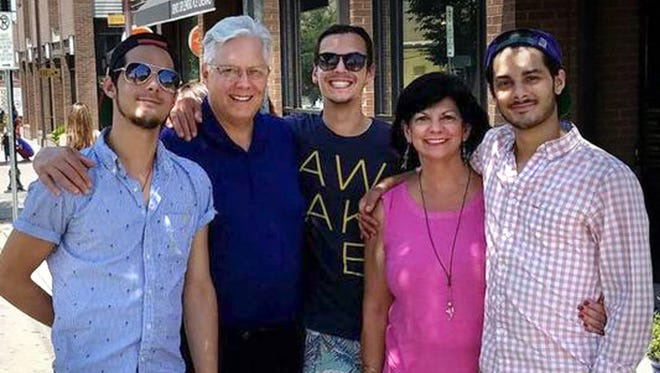 Jon and Janet Summers with their three sons: Branson and twins Wesley and Jared