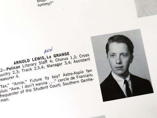 Arnold LaGrange's entry in the 1965 Pelham (N.Y.) Memorial