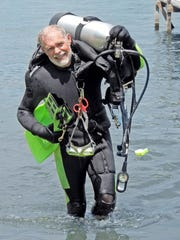 Lloyd Cunningham spends more time scuba diving at Lake