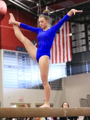 Aniessa Conway won several medals for Livonia Blue.