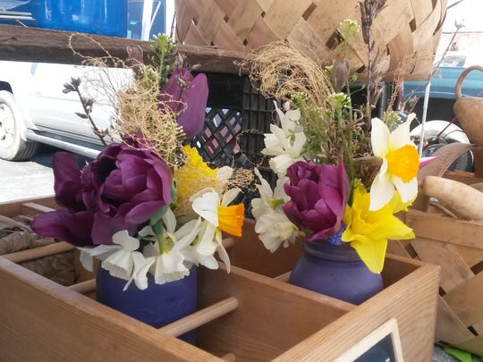 Flowers from Root Bottom Farm at West Asheville Tailgate