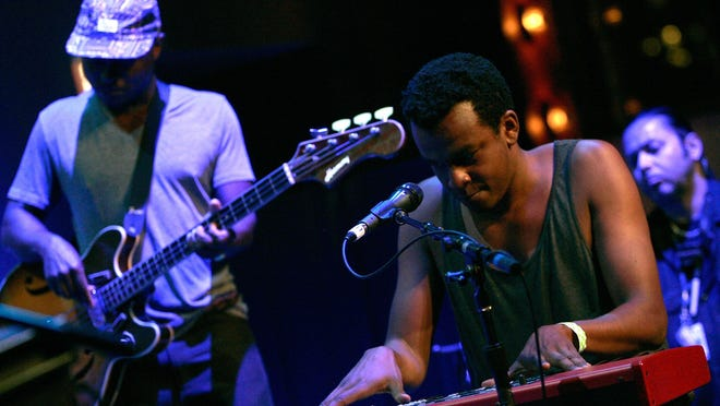 Ahmed Gallab of Sinkane performs during the 2012 Crossing Brooklyn Ferry Festival at the Brooklyn Academy of Music.