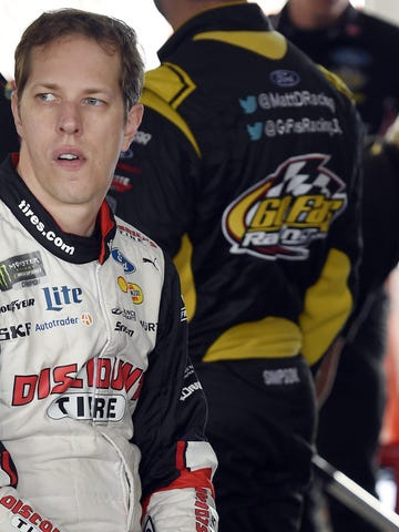 Nov 16, 2018; Homestead, FL, USA; NASCAR Cup Series driver Brad Keselowski (2) waits in the garage area during practice for the Ford EcoBoost 400 at Homestead-Miami Speedway. Mandatory Credit: John David Mercer-USA TODAY Sports ORG XMIT: USATSI-391854 ORIG FILE ID:  20181116_jdm_sx1_004.jpg