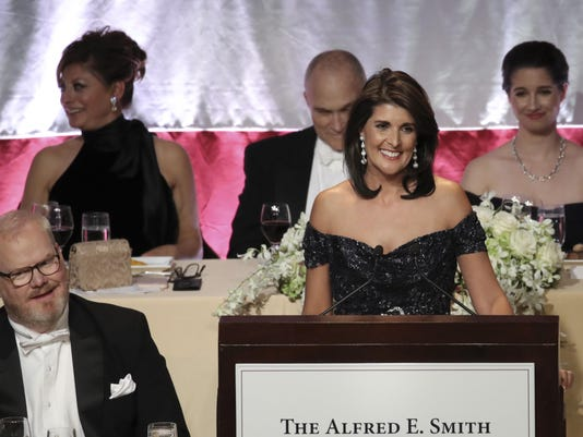 Nikki Haley Honored At Annual Alfred E. Smith Memorial Foundation Dinner