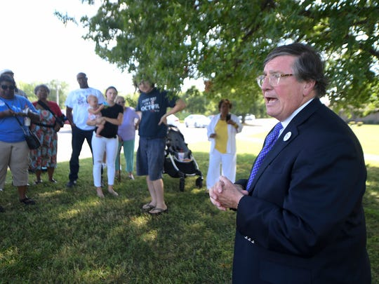 Tennessee gubernatorial candidate Craig Fitzhugh made a stop in McKenzie at the McKenzie Regional Hospital, Wednesday, Aug. 1 to talk about his plans for medicaid expansion if elected governor. McKenzie Regional Hospital is expected to close later this year.
