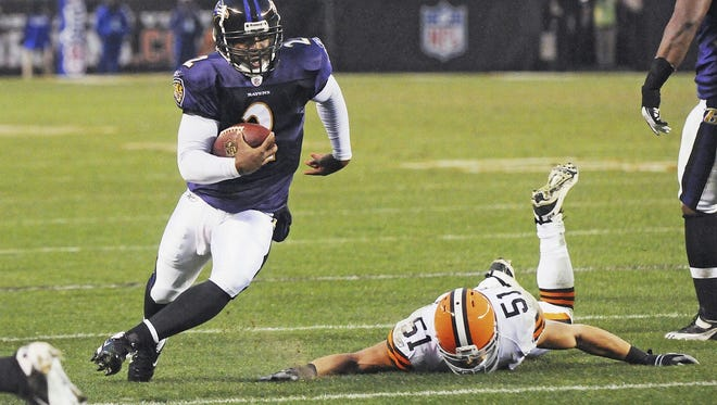 Tyrod Taylor with the Ravens