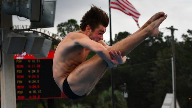 FSU freshman Josh Davidson is the only diver representing the Seminoles at NCAA Championships.