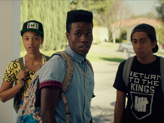 Kiersey clemons as diggy left shameik moore as malcolm and tony