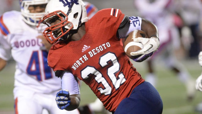 North DeSoto's Delmonte Hall will be a featured ball carrier in the Grffins' offense this fall.