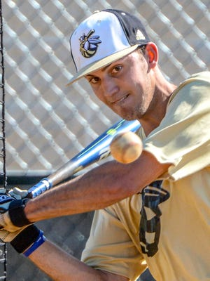 T.L. Hanna senior infielder James Parker (6) swings during batting practice for the Class AAAAA Upper State playoffs at T.L. Hanna High School in Anderson on Tuesday.