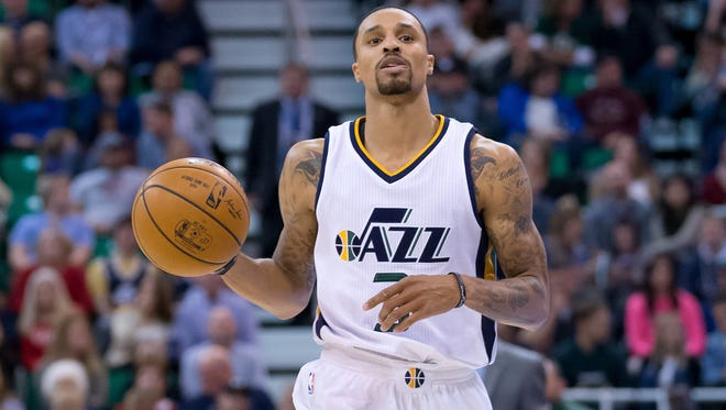 Utah guard George Hill (3) has been one of the most important players for the up-and-coming Jazz.