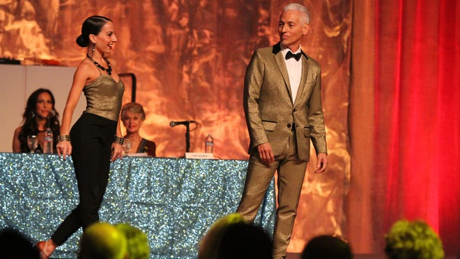 Dancer Erica Long and her partner, businessman Ron Duran, compete during the 2015 Dancing with the Desert Stars in Palm Springs.