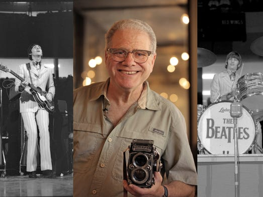 Doug Elbinger of Bloomfield Hills, MI, holds the Rolleiflex