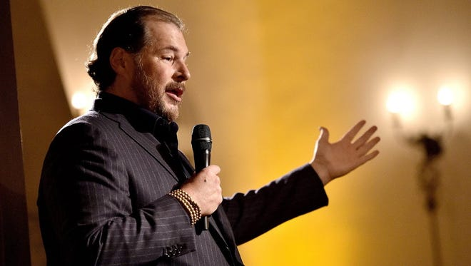 Marc Benioff of online sales software maker Salesforce.com and onetime Oracle sales king started Salesforce in 1999, betting on the fact that companies would prefer to interact with their data in the cloud rather than manage their own server farms. He is paid $33.4 million.