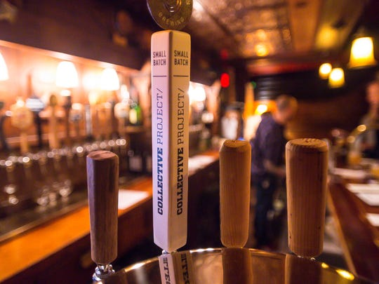A Collective Arts Brewing tap seen at The Parlor at The Farmhouse Tap & Grill in Burlington on Friday, November 18, 2016.