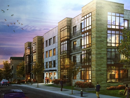 An artist rendering of Enclave Equities' proposed apartment
