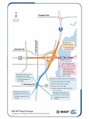 Multiple upcoming ramp closures on I-41 at Winchester