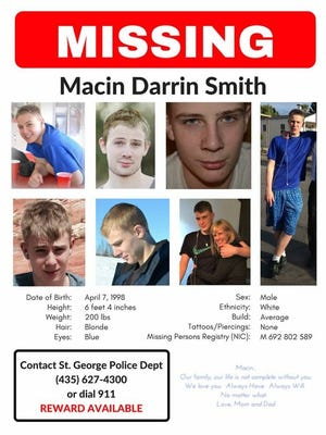St. George teenager Macin Smith has been missing since September 2015.