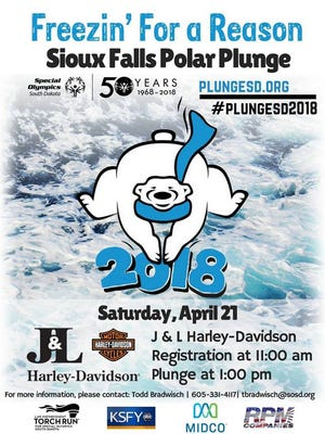 More than $70,000 was raised at the 2018 Sioux Falls Polar Plunge at J&L Harley-Davidson in Sioux Falls, April 21 by 210 participants.