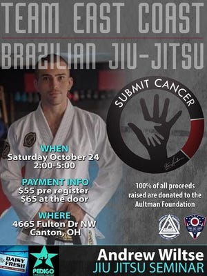 Andrew Wiltse will appear at the East Coast Martial Arts Submit Cancer event in Jackson