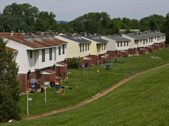 Riverside Terrace, a public housing area that's near the flood wall and planned Greenway project, is going to be rehabilitated under a public housing proposal by New Albany.