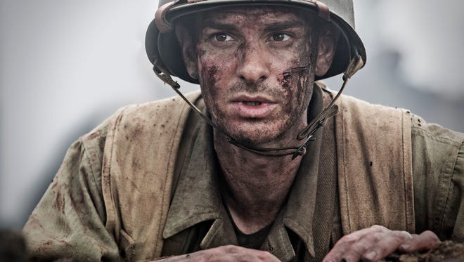"""Andrew Garfield as Desmond Doss in a scene from the movie """"Hacksaw Ridge"""" directed by Mel Gibson."""