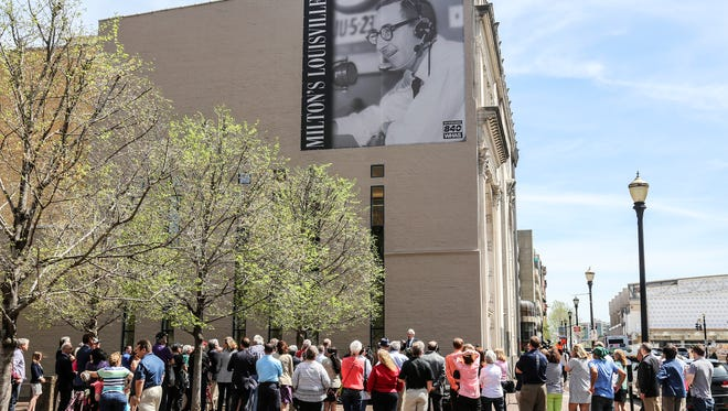 Milton Metz's Hometown Hero banner was officially unveiled at Fifth and Market Streets on Monday afternoon.April 10, 2017